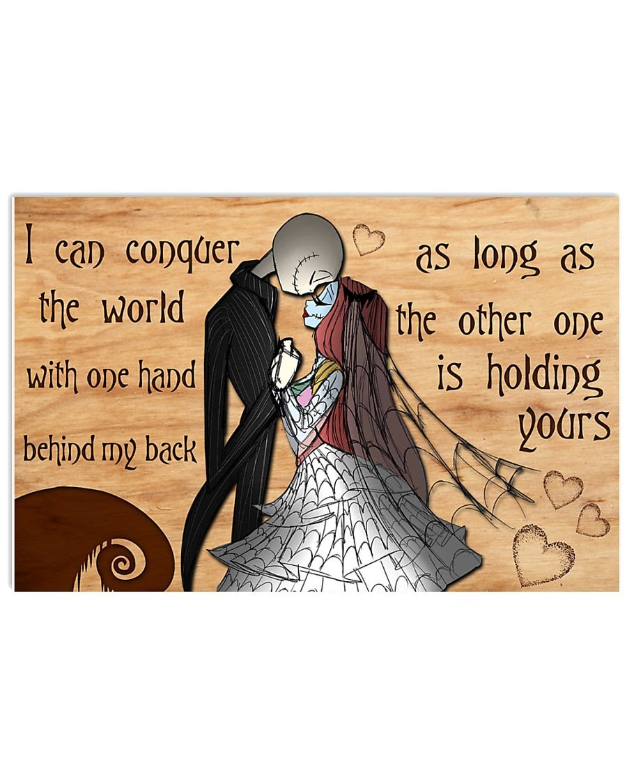 Jack Skellington and Sally I can conquer the world poster