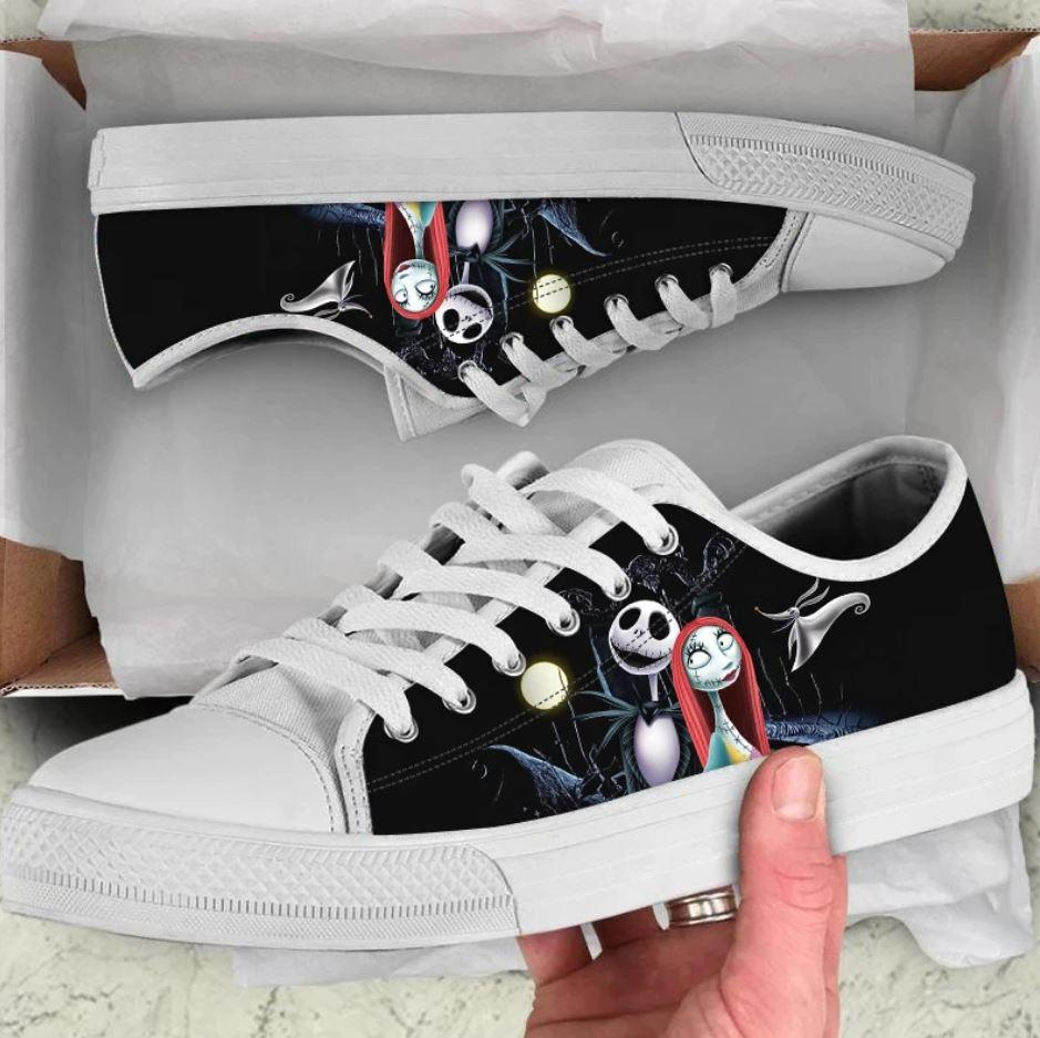 Jack Skellington and Sally Women Low Top Shoes 1