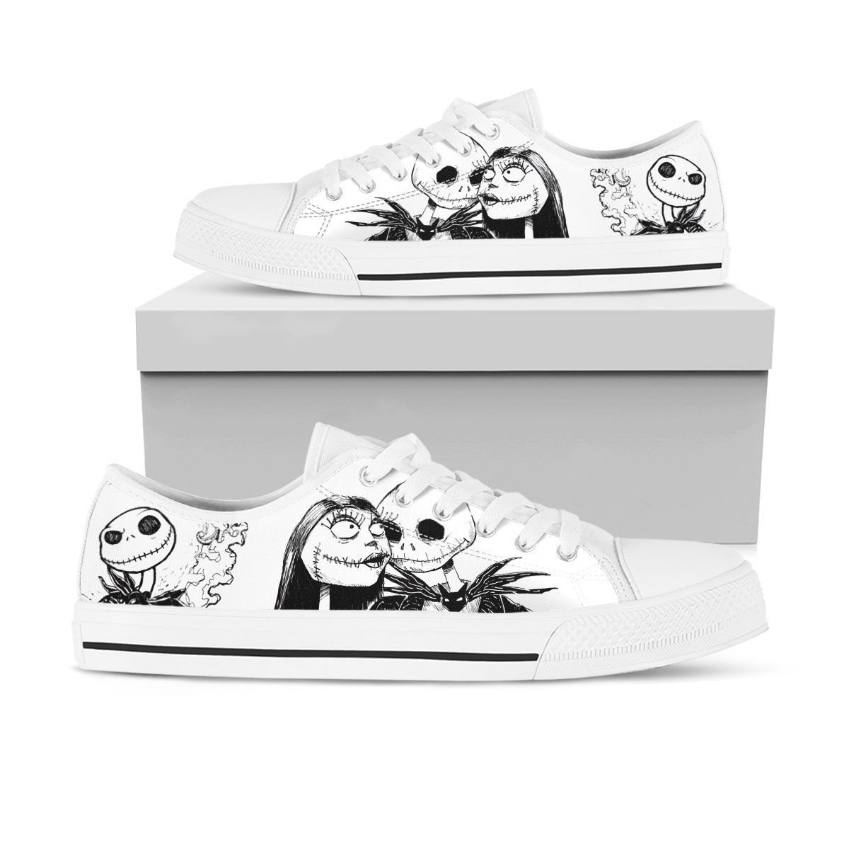 Jack Skellington and Sally low top shoes 1.1