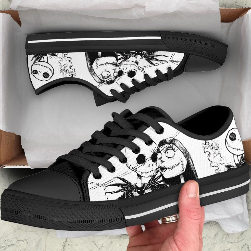 Jack Skellington and Sally low top shoes 2