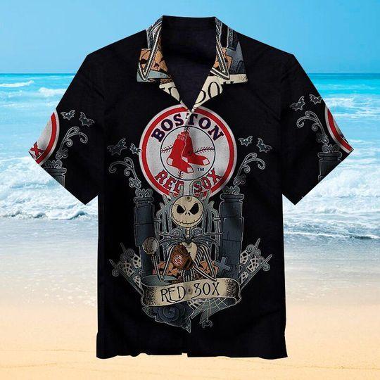 Jack Skellington boston red sox hawaiian shirt