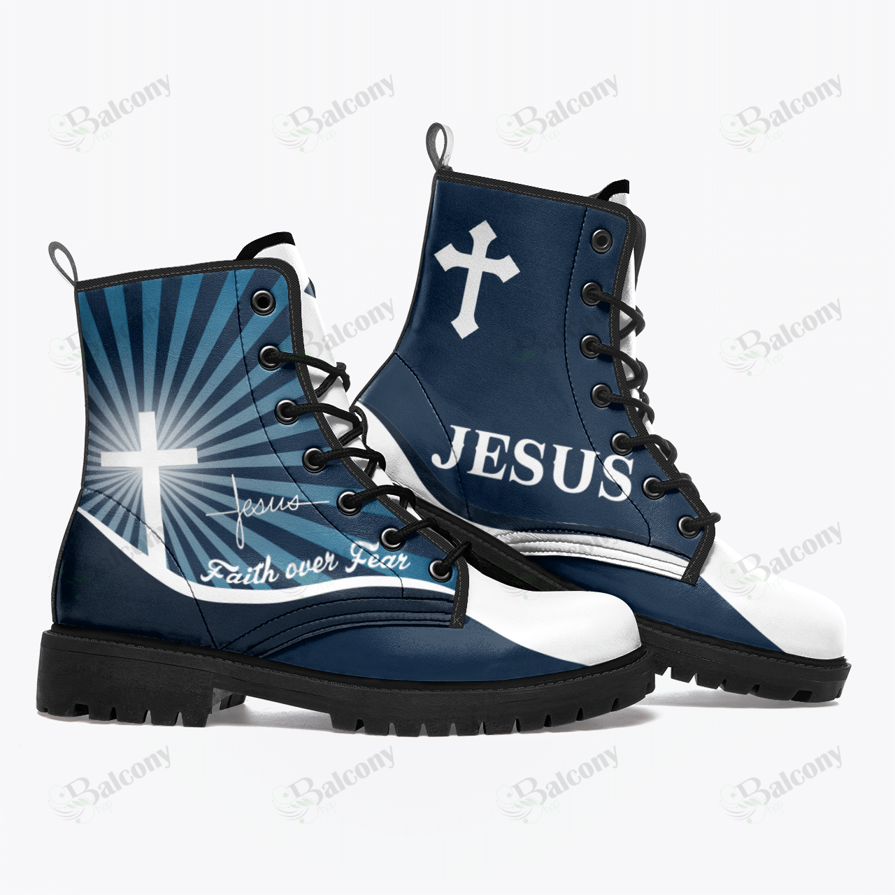 Jesus faith over fear leather Timberland Boot 1