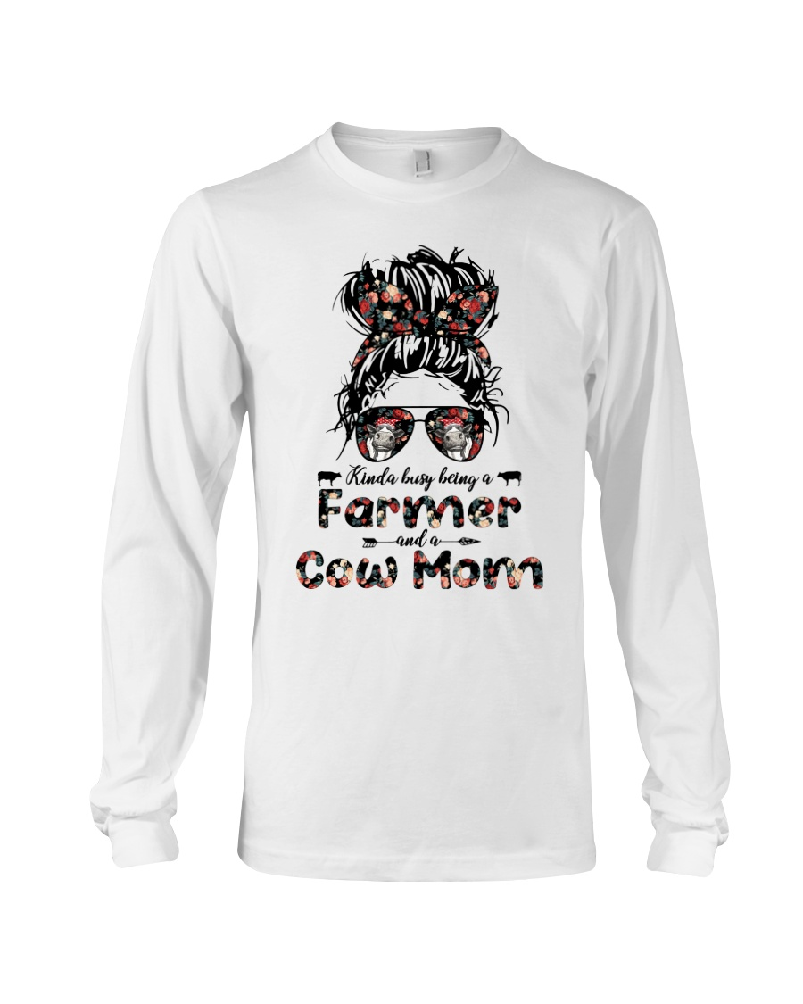 Kinda Busy Being A Farmer And A Cow Mom Shirt 13