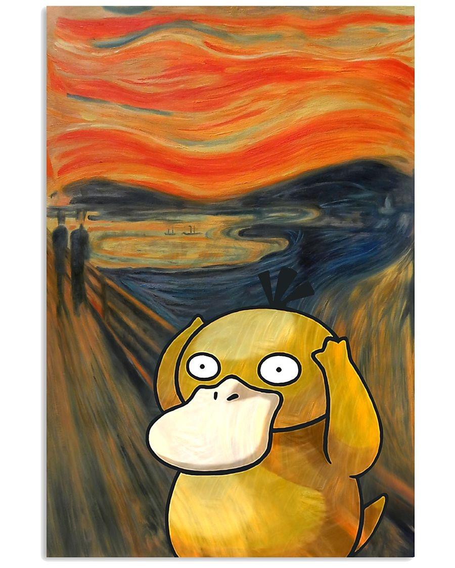 Koduck pokemon the scream art poster