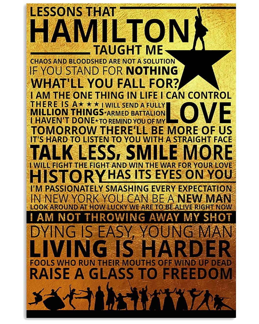 Lessons that hamilton taught me poster