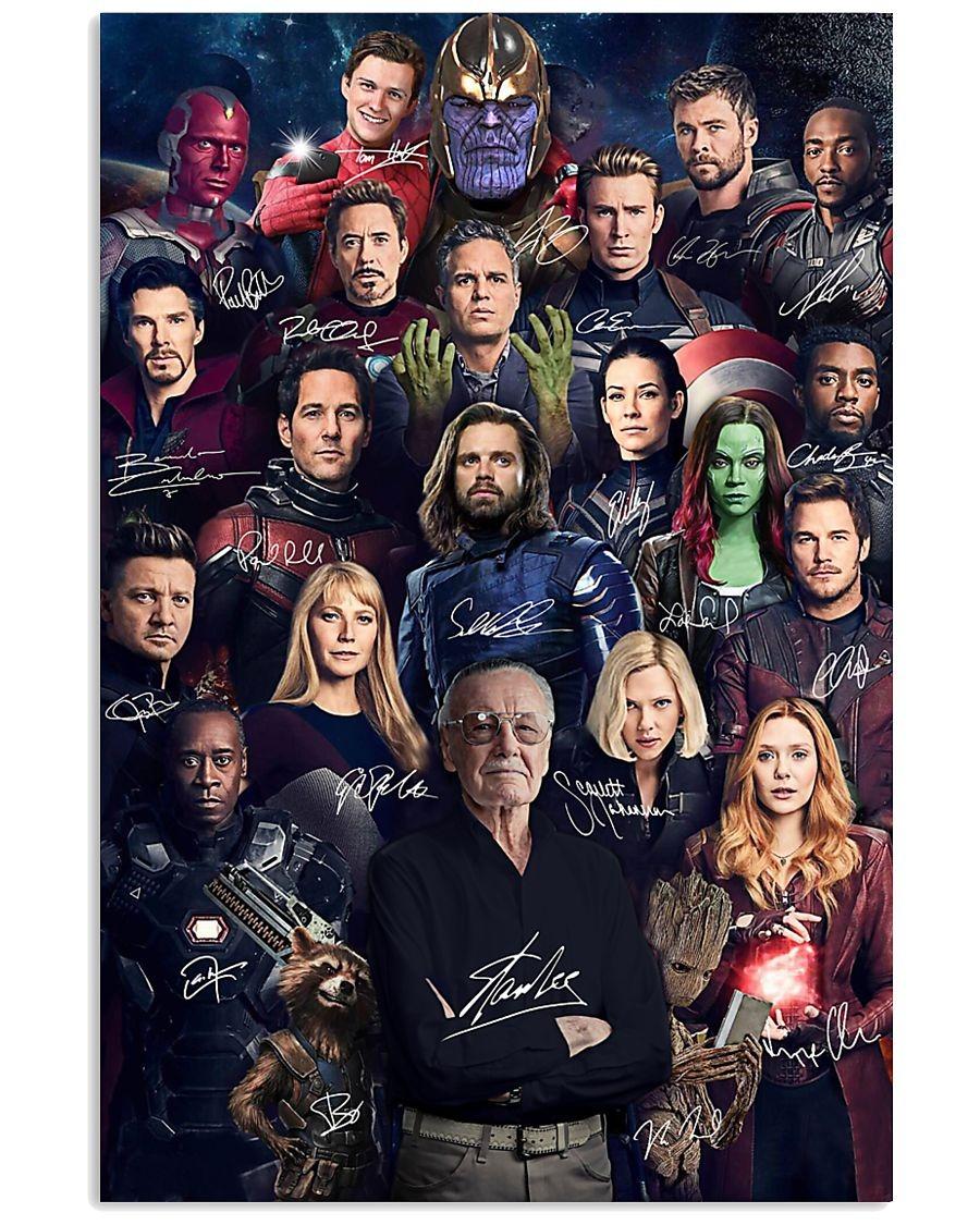 Marvel Avenger signatures poster