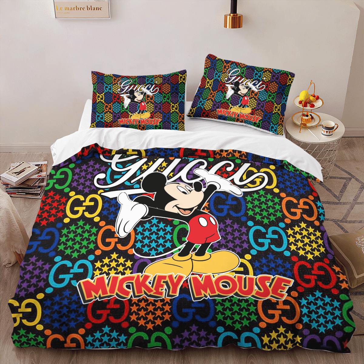 Mickey Mouse Gucci bedding set 2.1