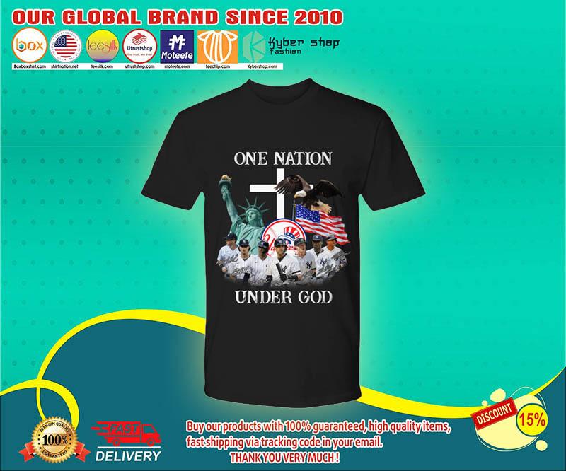 New York Yankees One nation under god shirt