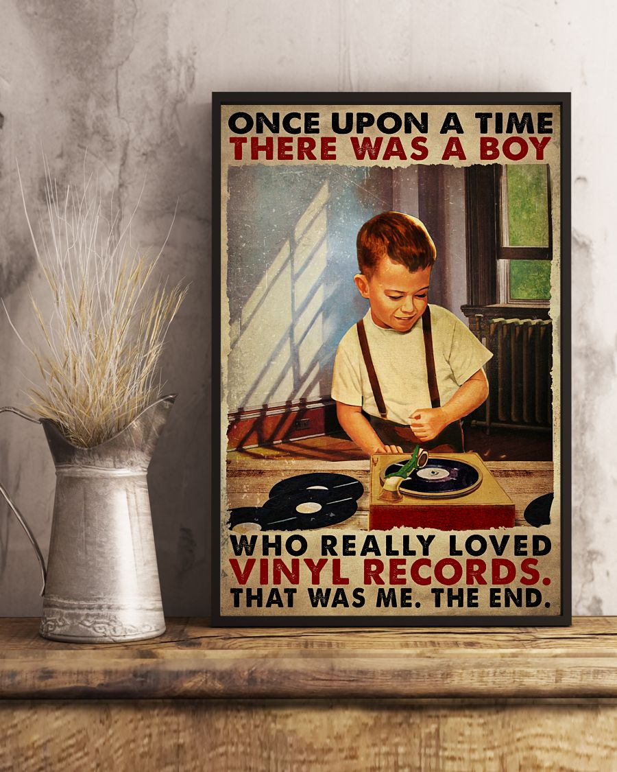 Once upon a time there was a boy who really loved vinyl records poster 2