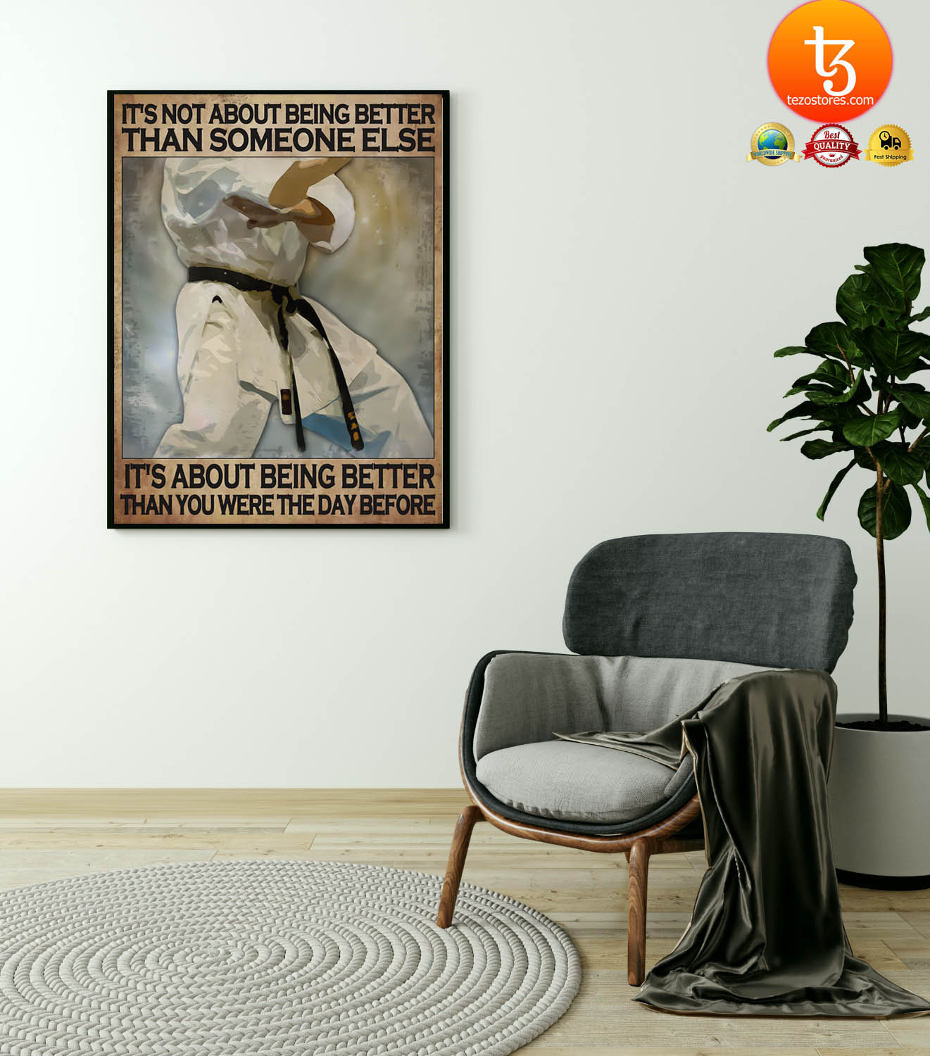 Osu Karate It's not about being better than someone else poster 1