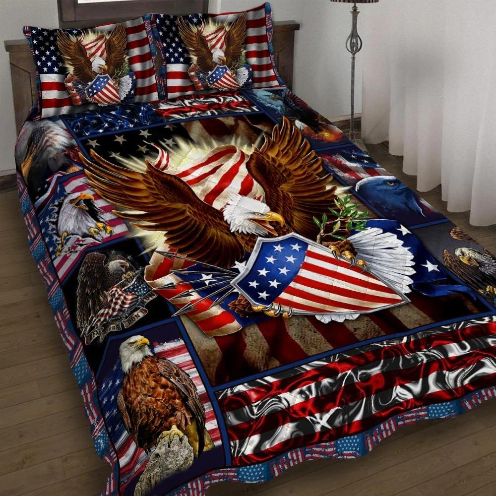 Patriotic Eagle Quilt Bedding Set