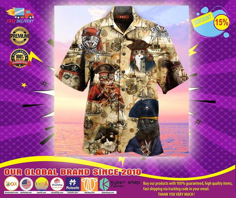 Pirate Cat Unisex Hawaiian Shirt1