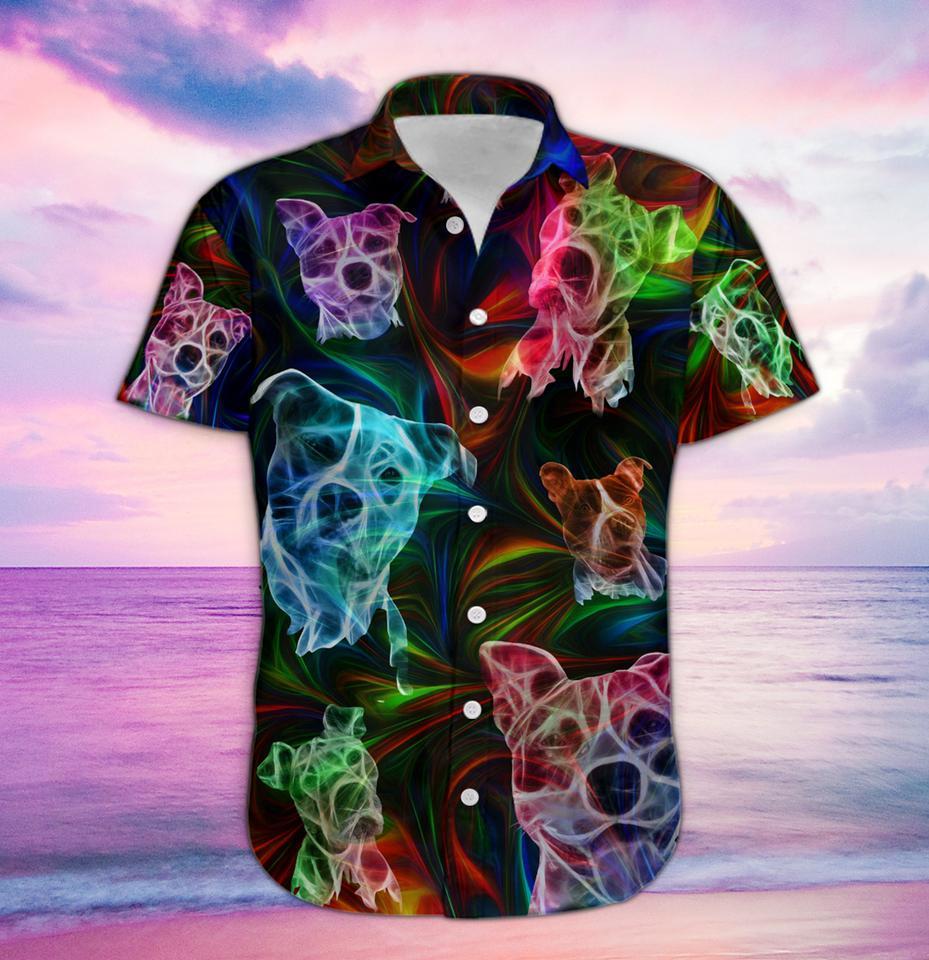 Pitbull fantasy hawaiian shirt