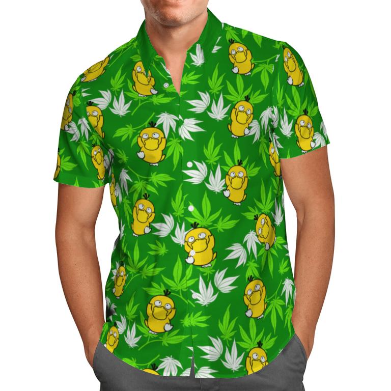 Psyduck hawaiian shirt and short 1