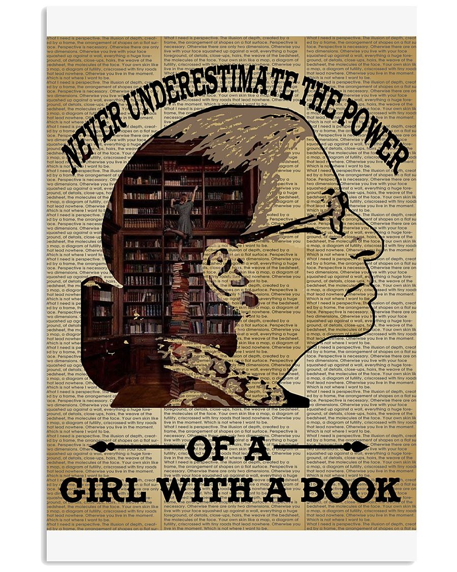 Ruth Bader never underestimate the power of a girl with a book poster