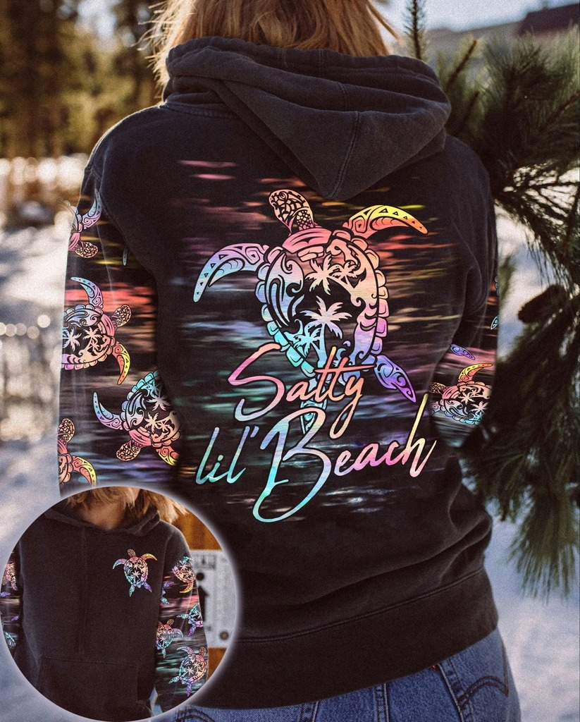 Satty lil beach turtle 3D over print hoodie
