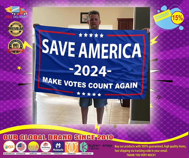 Save america 2024 make votes count again flag