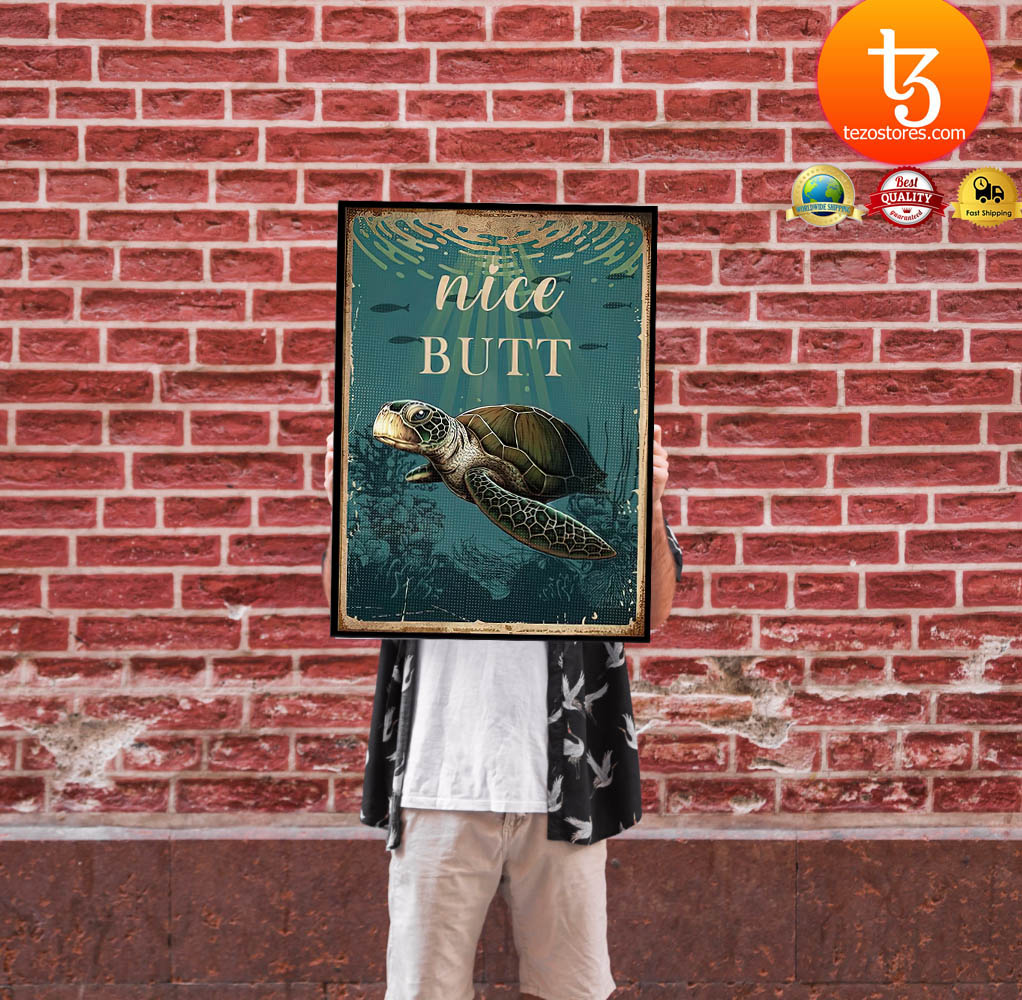 Sea turtle nice butt poster 1