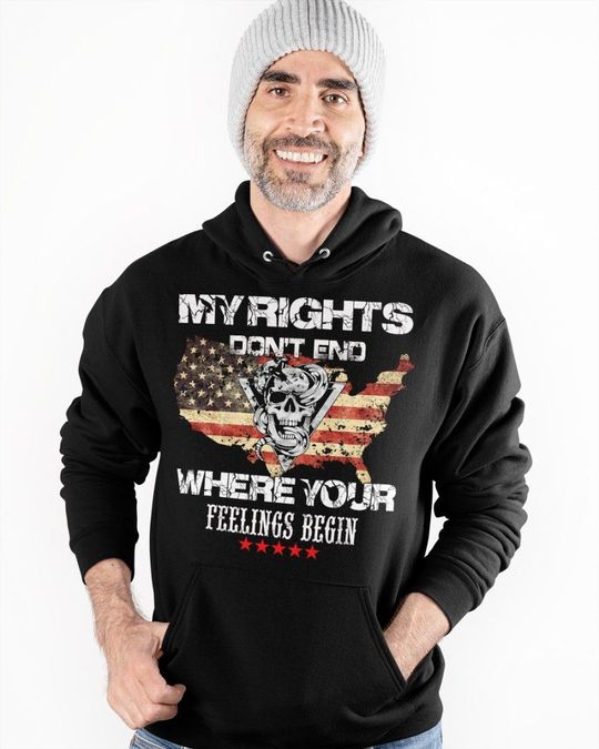 Skull My Rights Don't end Where Your Feelings Begin Shirt 1