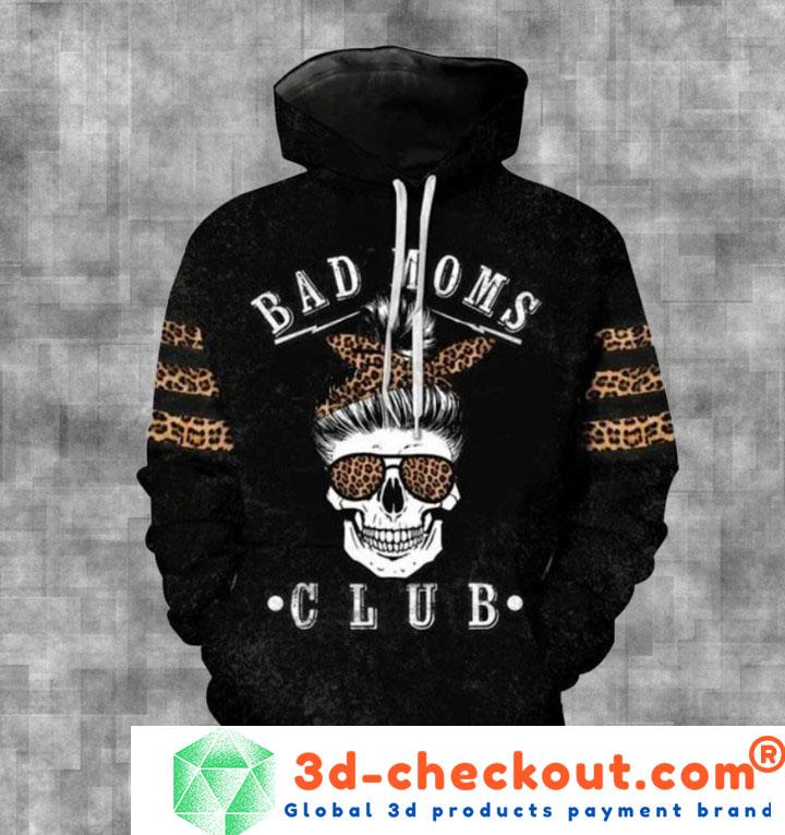 Skull bad moms dark club 3D hoodie and legging