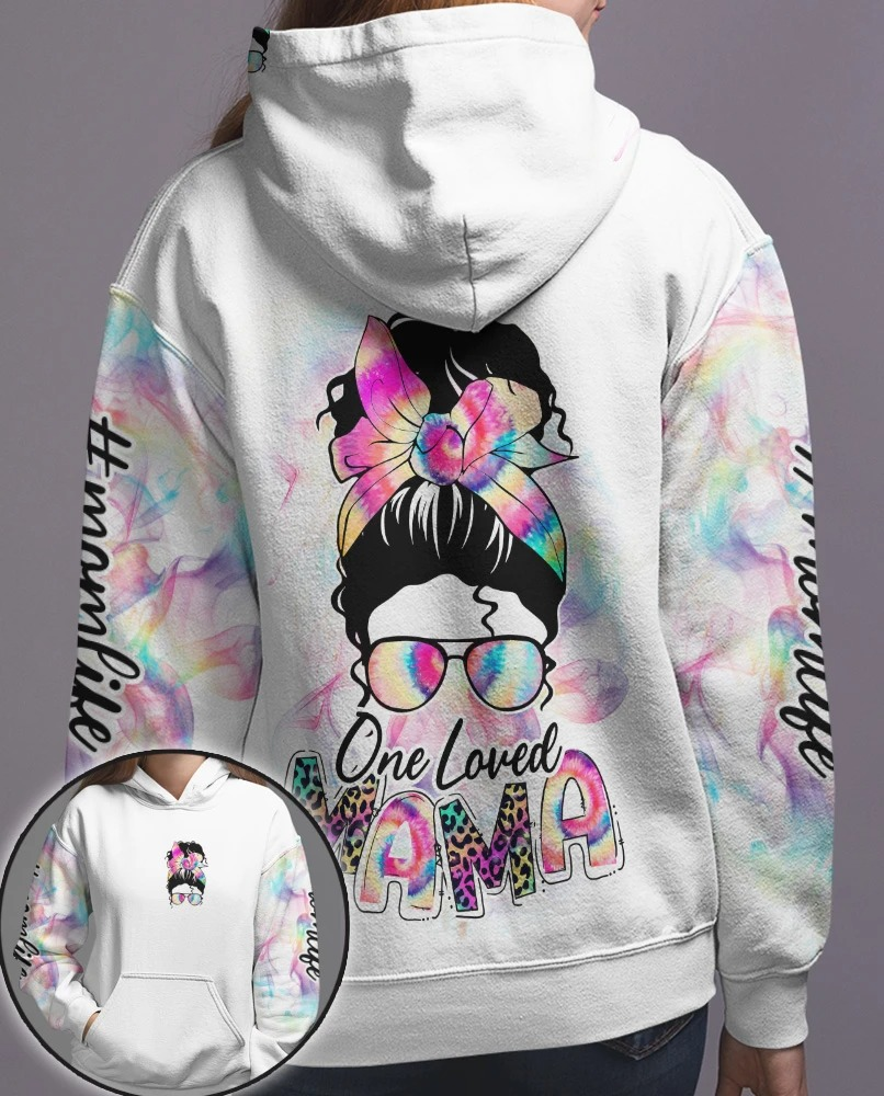 Skull coloful one loved mama 3D hoodie