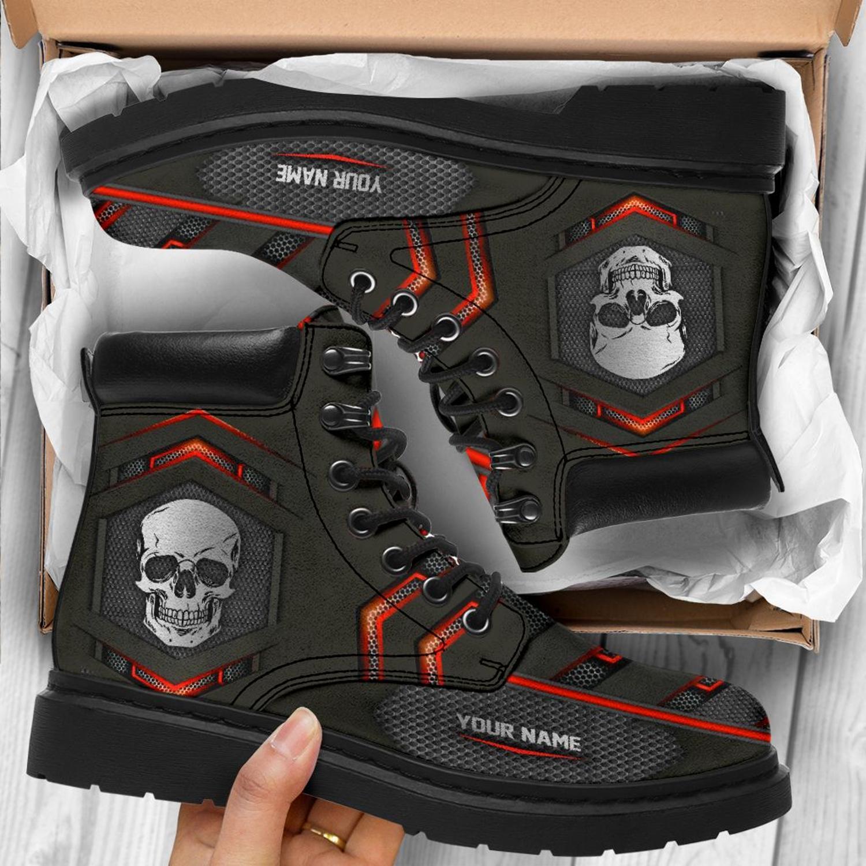 Skull custom name Timberland Boot