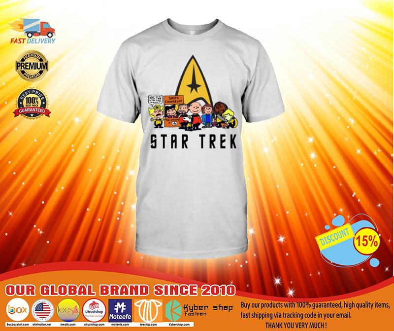 Snoopy and Charlie Brown Star Trek shirt 2