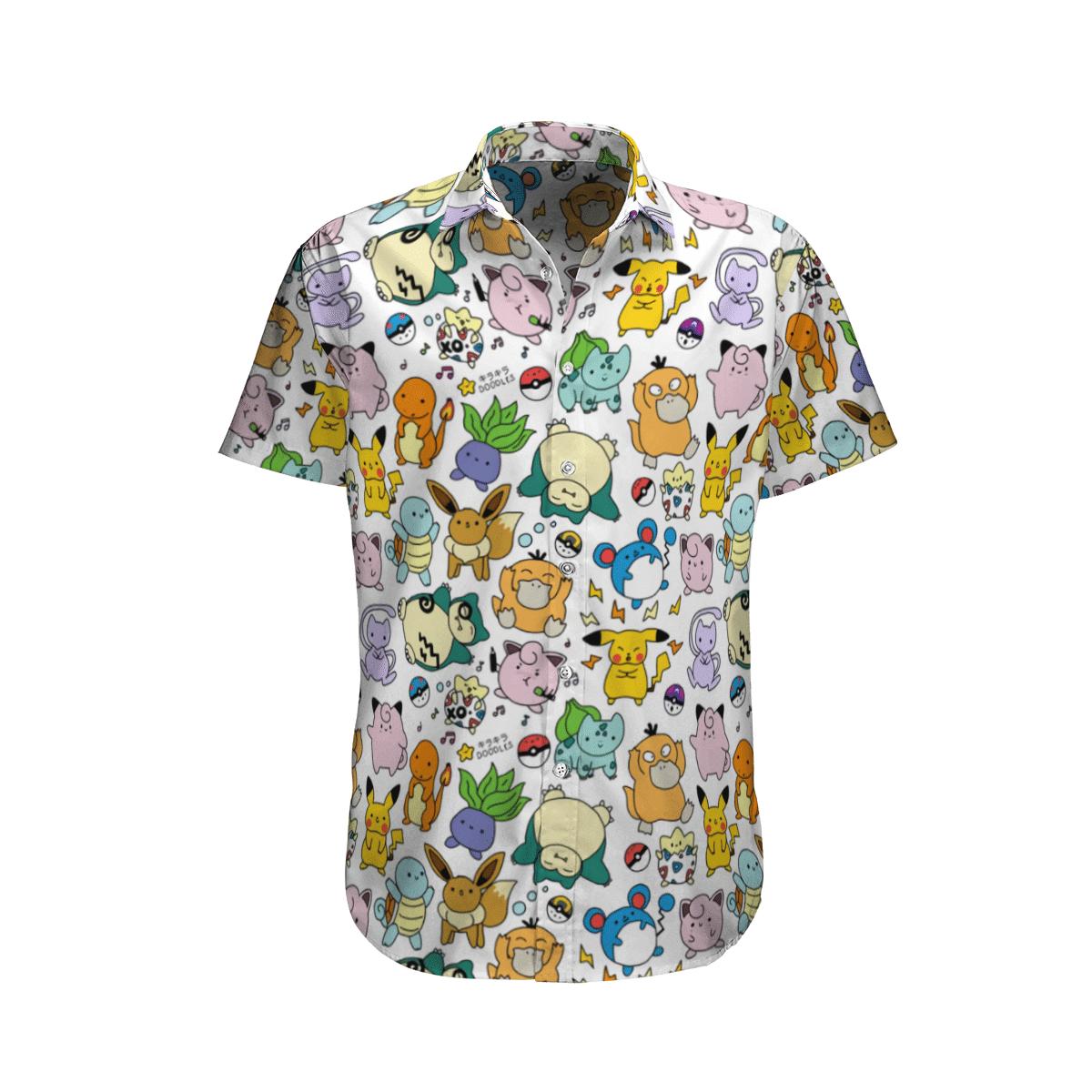 Snorlax hawaiian shirt and short 1