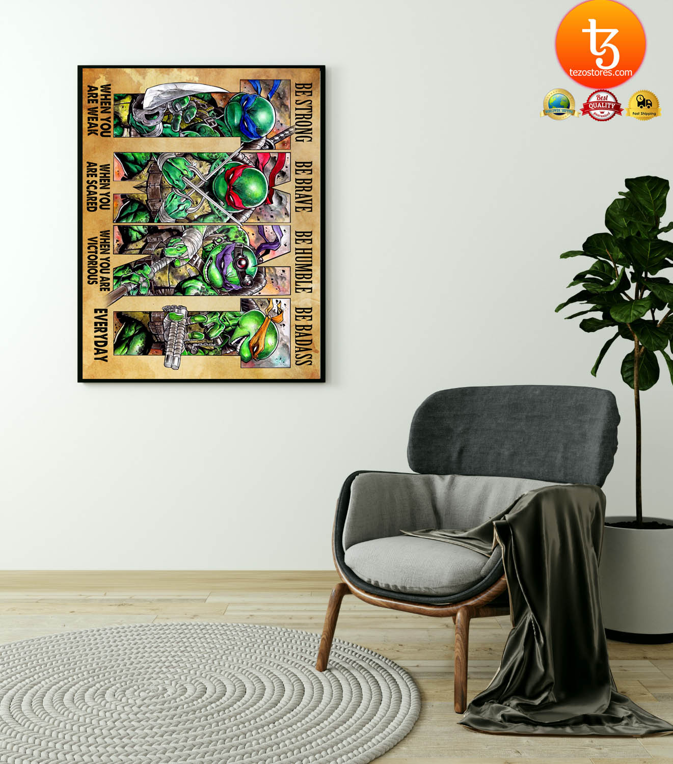 TMNT be strong be brave be humble be badass poster 11