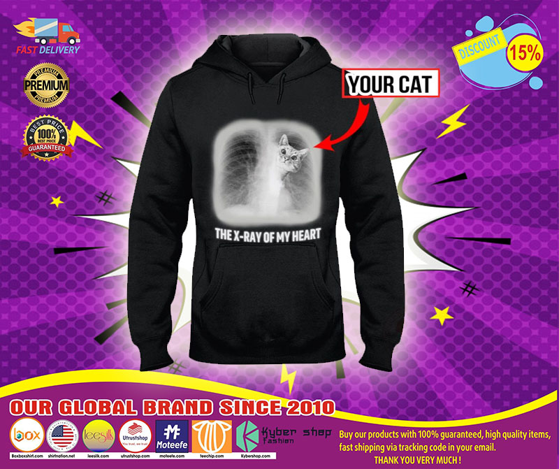 The x-ray of my heart personalized cat 3D hoodie