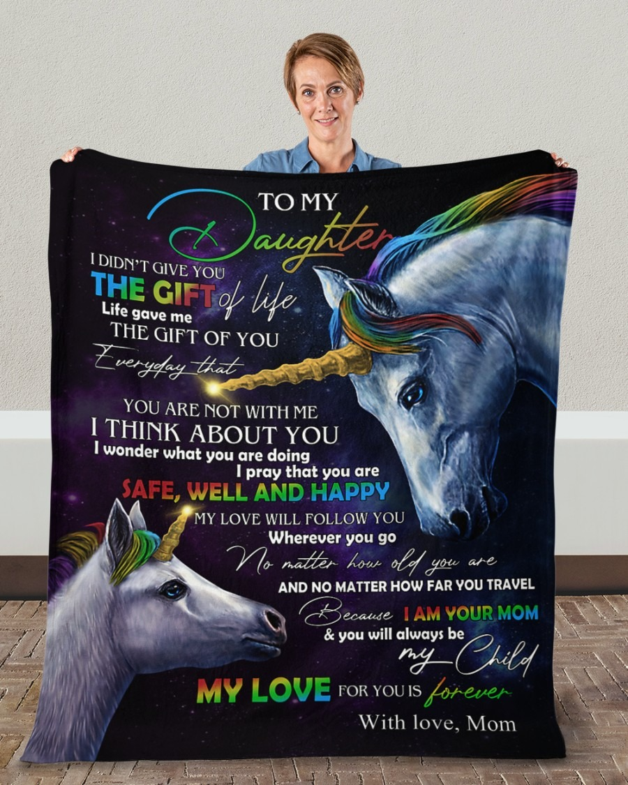 Unicorn to my daughter blanket