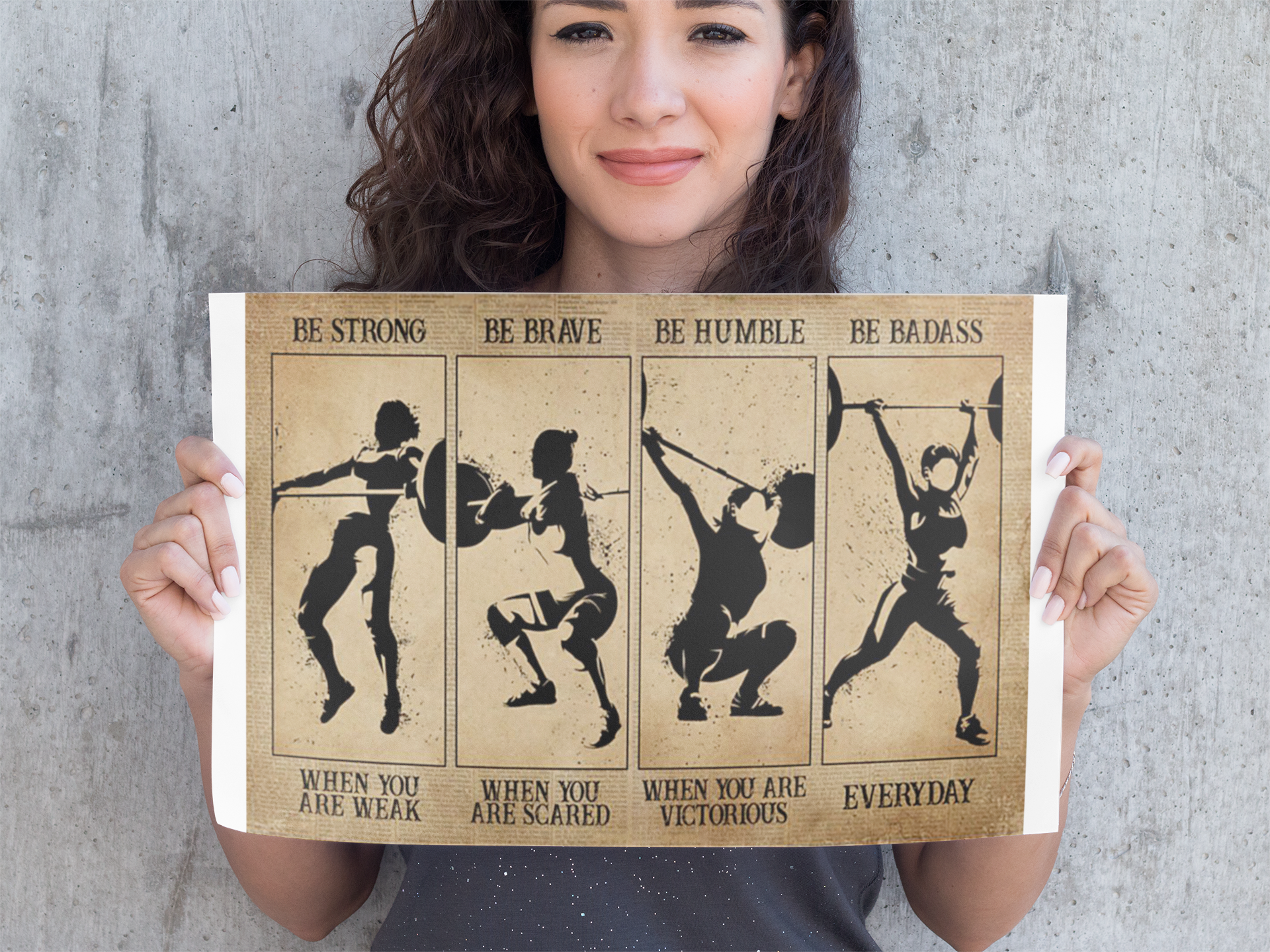 Weightlifting Women be strong be brave be humble be badass poster11