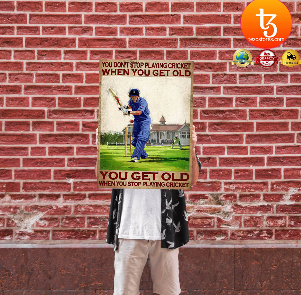 You don't stop playing cricket when you get old poster 13