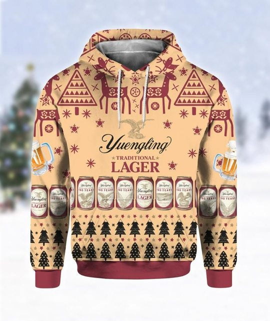 Yuengling lager beer all over print 3d hoodie