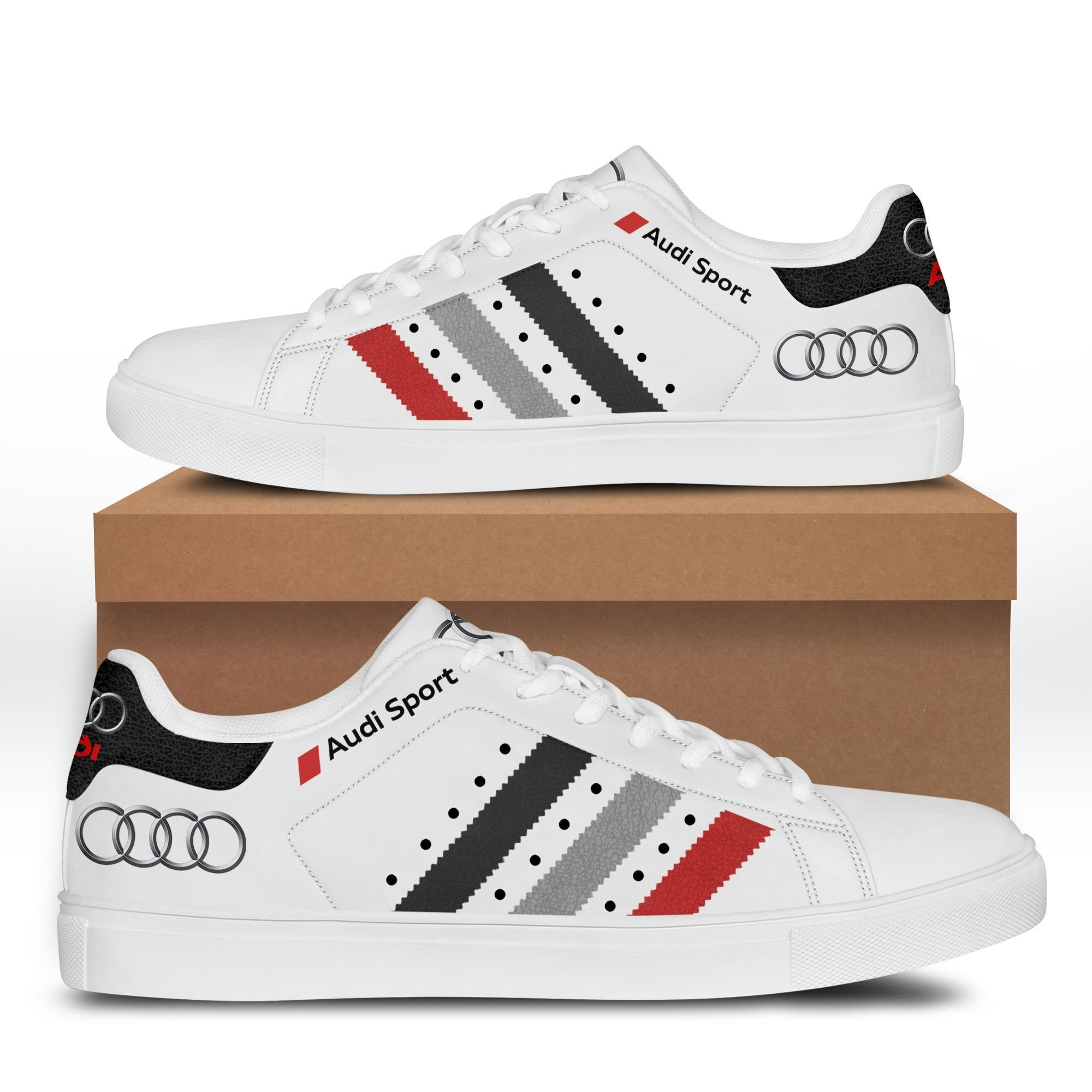 Audi Sport stan smith low top shoes 3