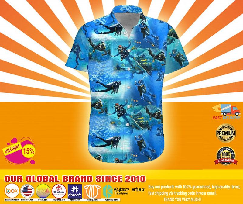 Scuba diving hawaiian shirt1