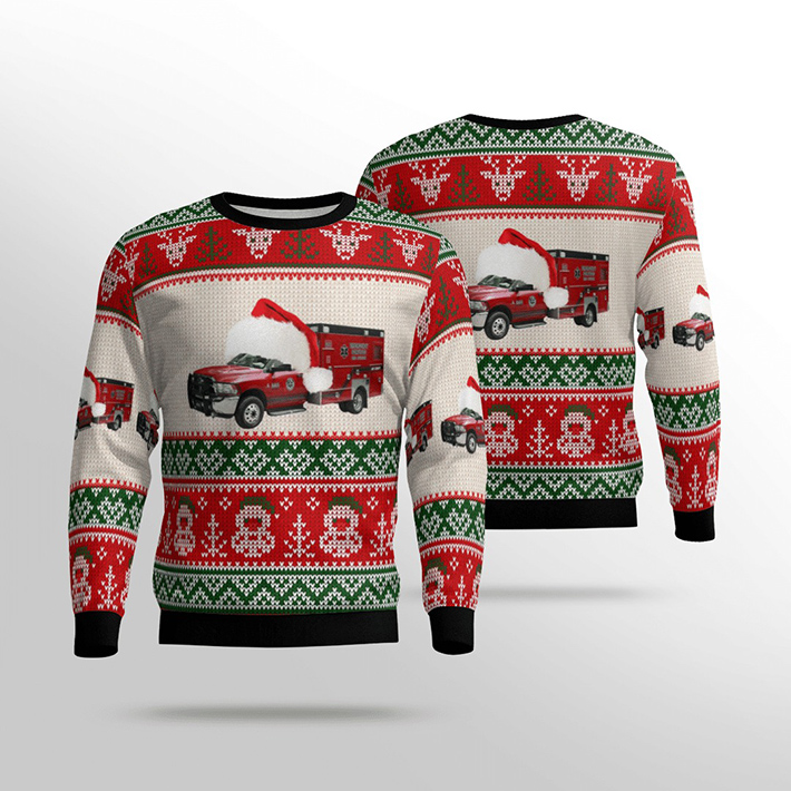 Customer Delivery Bay County EMS Ugly Christmas Sweater