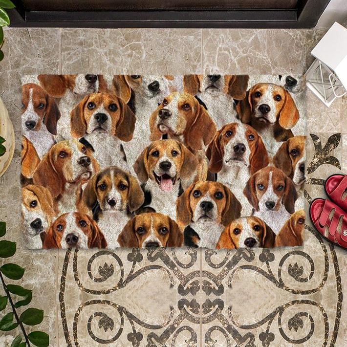 A Bunch Of Beagles Doormat1