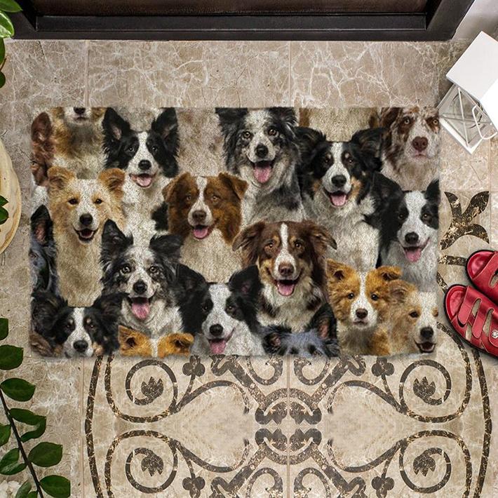 A Bunch Of Border Collies Doormat1