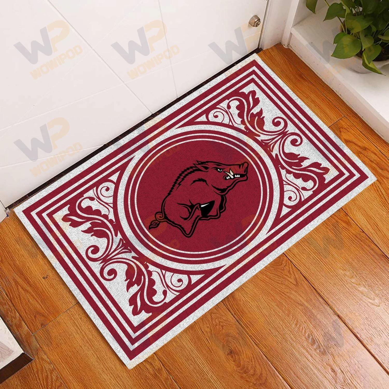 Arkansas Razorbacks Floral Doormat
