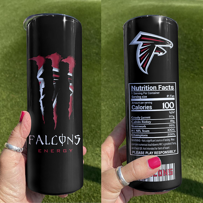 Atlanta Falcons Monster Energy Skinny Tumbler