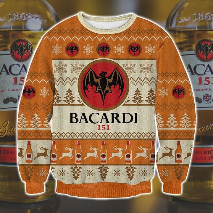 Bacardi 151 Ugly Christmas Sweater