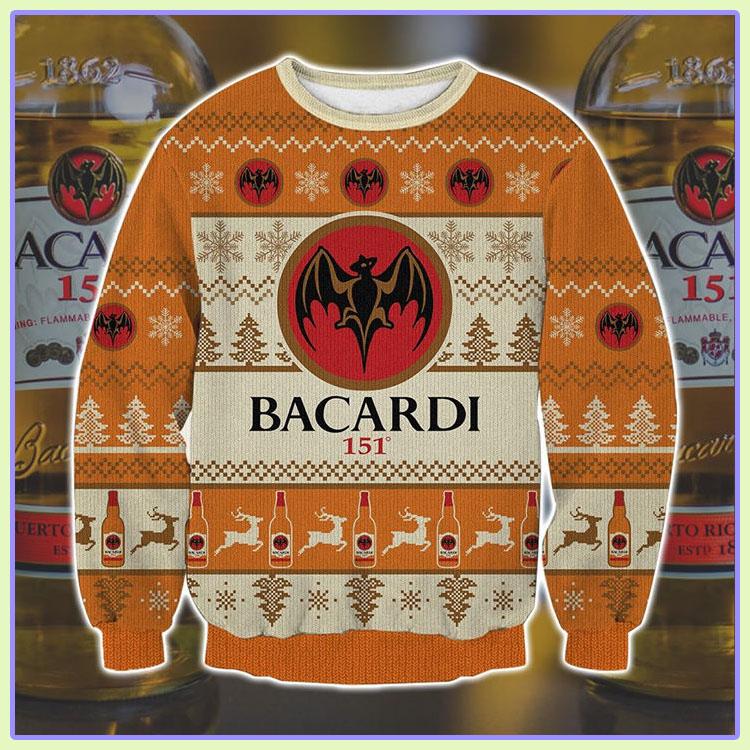 Bacardi 151 Ugly Christmas Sweater1