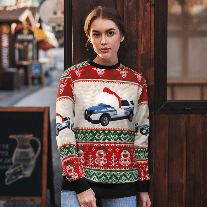 Boston Police Department Ugly Christmas Sweater1