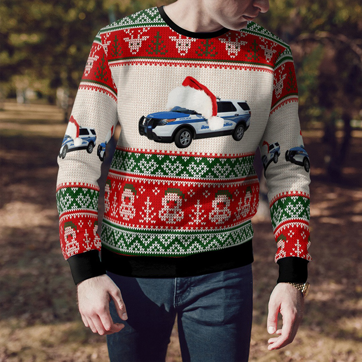 Boston Police Department Ugly Christmas Sweater2