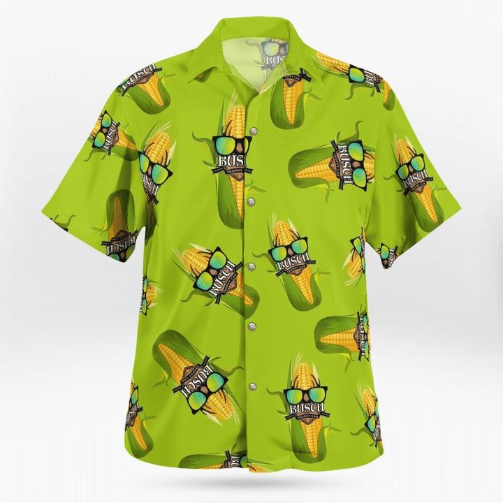 Busch Beer trophy can corn hawaiian shirt 2