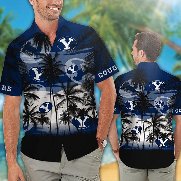 Byu Cougars Tropical Hawaiian Shirt Short