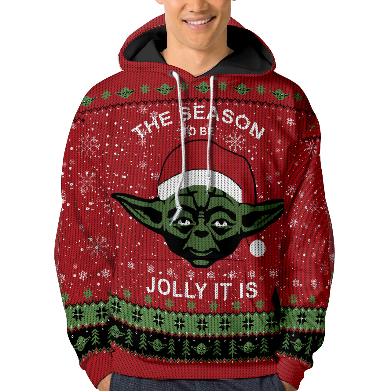 Christmas Baby Yoda The season to be jolly it is 3d shirt hoodie 3