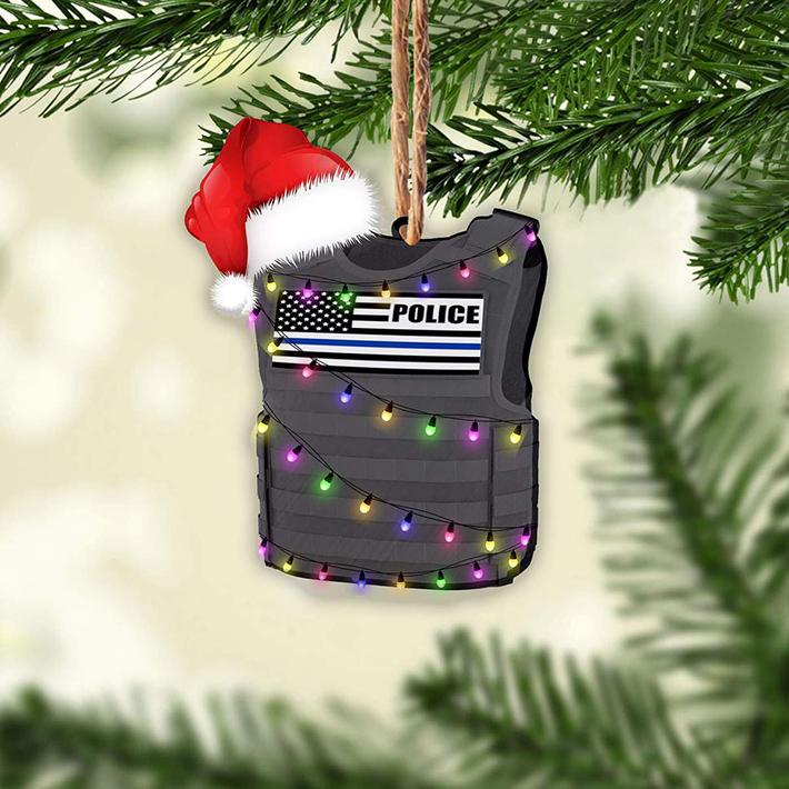 Christmas Police Shaped Ornament
