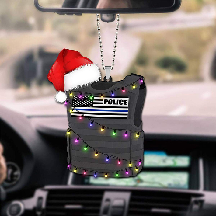 Christmas Police Shaped Ornament3